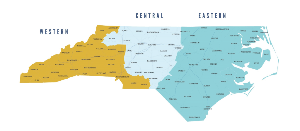 3 areas of North Carolina our area managers cover